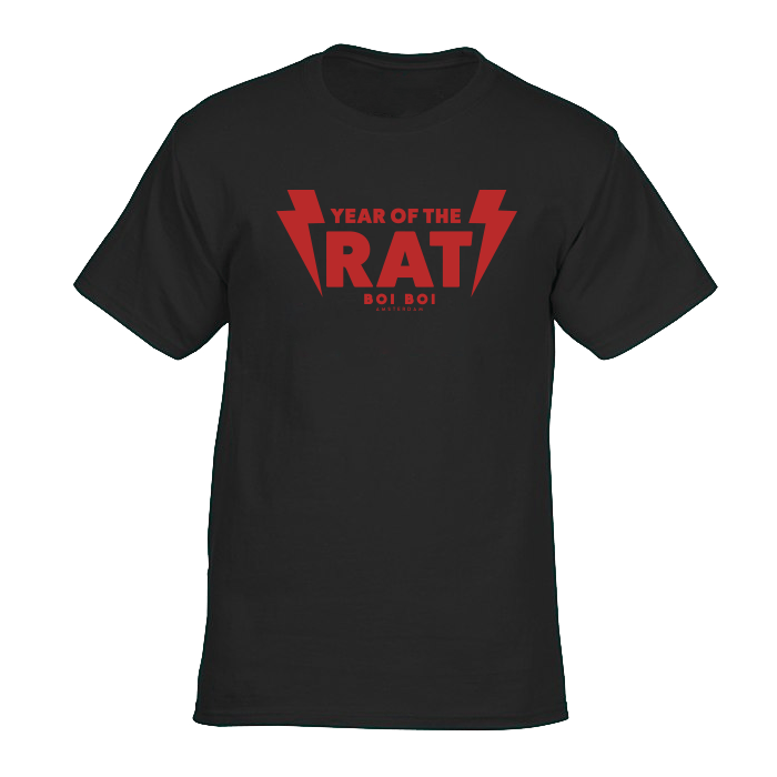 Year of the Rat Tee Black