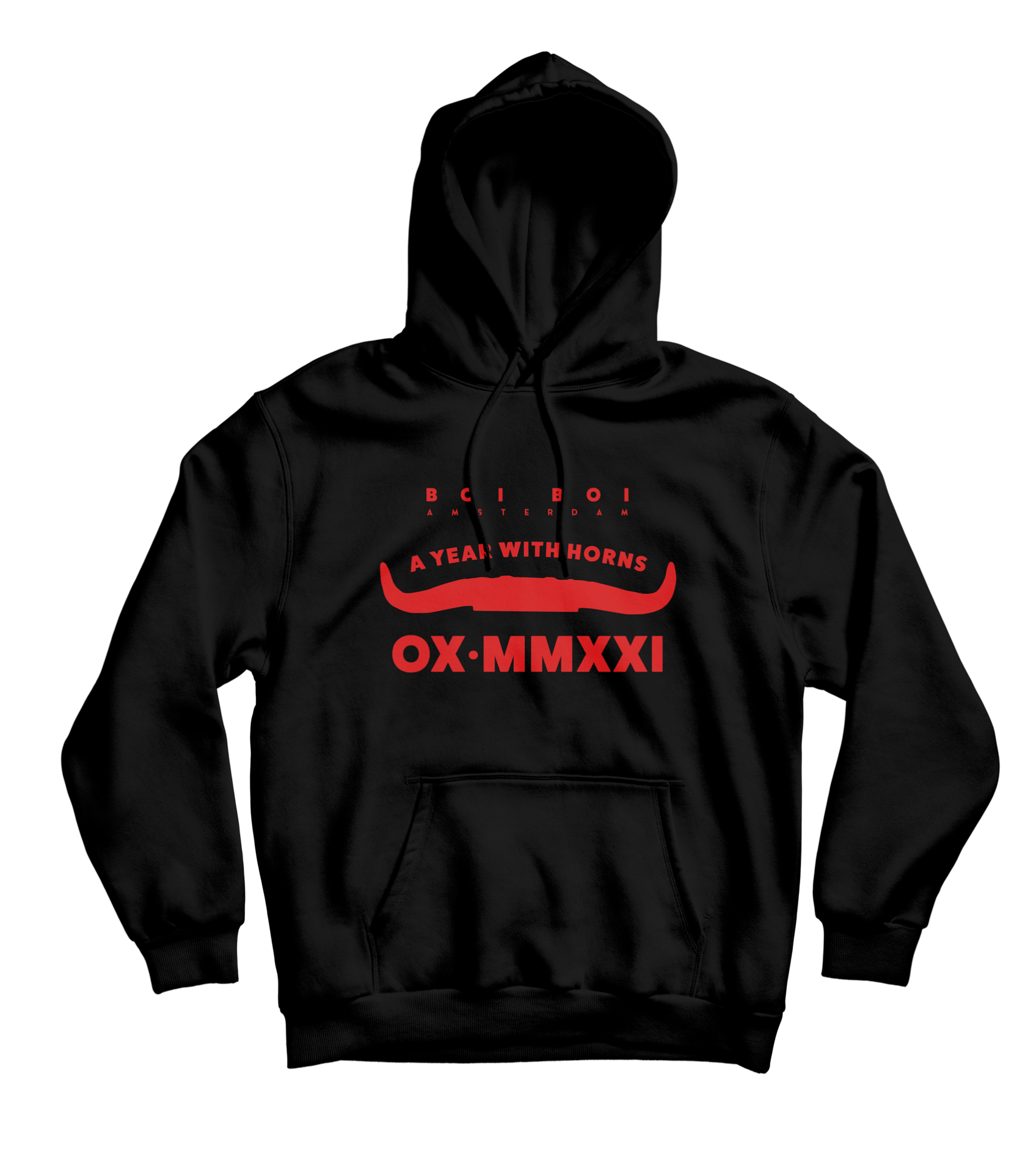 2021 year of the ox lucky hoodie Zwart