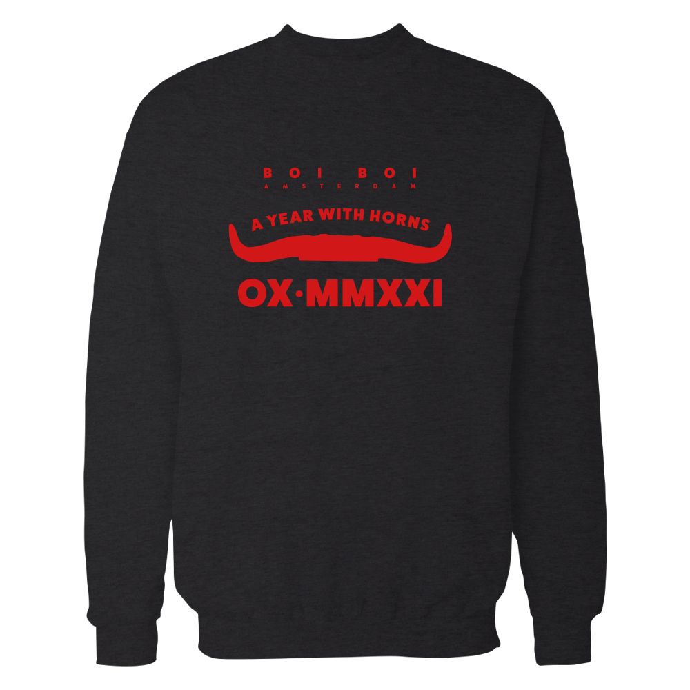 2021 year of the ox lucky Sweatshirt Zwart