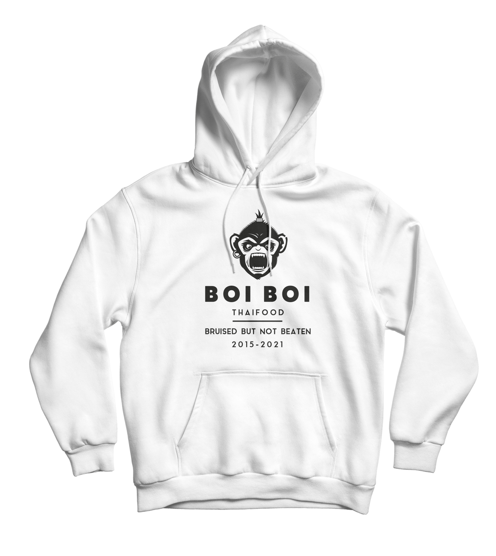 Bruised but not beaten hoodie white